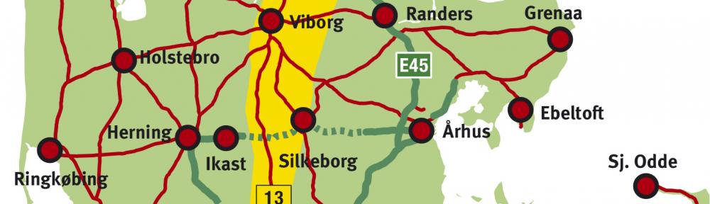 Hærvejsmotorvej kort uden tekst
